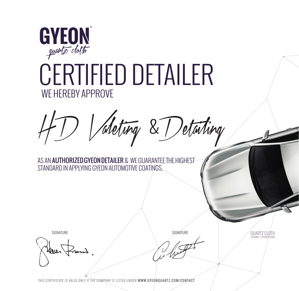 GYEON Certified Detailer Norfolk